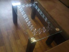 Little tables glass with drawings, mm glass 10,