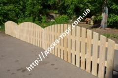 Section wooden fences
