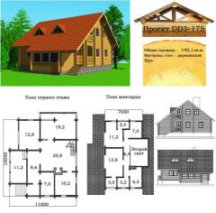 Коттеджи деревянные. Проекты домов типовые