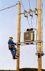 Опоры линий электропередач. Деревянные