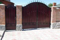 Gate metal garage Dnipropetrovsk. Gate metal