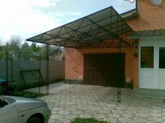 Gate are garage. Gate garage Dnipropetrovsk,