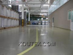 Floors industrial Kouteks-sale and installation on