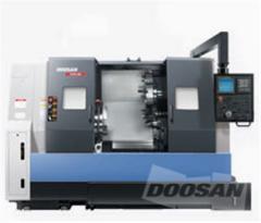 The machine horizontally turning with