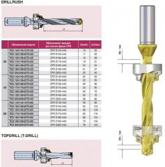 T-Drill drills with mechanical fastening of
