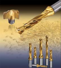 DRILLRUSH drills with mechanical fastening of