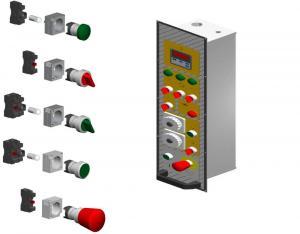Механическая панель управления к ротационной печи