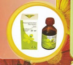 Tinctures of medicinal herbs. Eleuterokokka