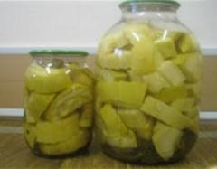Vegetable marrows tinned