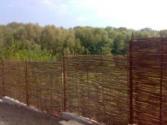 Fences for cottages from a rod