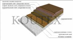 Color quartz bulk floor for rooms with the raised