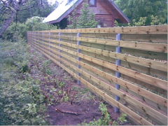 Logs for fence