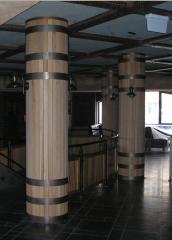 Columns are shod.