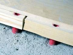 Logs for floor adjustable