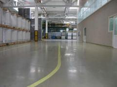 Bulk floors Materials and performance of work.