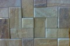 Paving slabs from sandstone