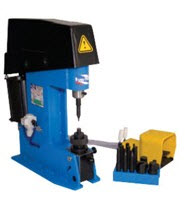 The machine for a klepka of brake shoes for