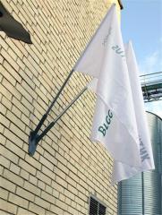 Флаги, изготовление флагшотка и флагов