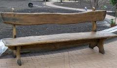 Benches from a natural tree