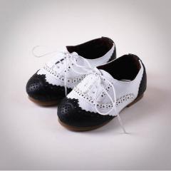 Туфли черно-белые (Sh 10002-white)
