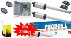 BFT PHOBOS BT A40 kit. Комплект электроприводов