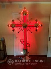 Crosses are coated with Titanium Nitride and led backlight
