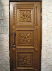 Двери из массива дуба, двери из натурального