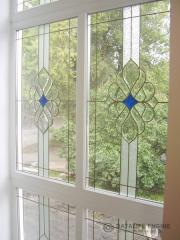 Stained-glass windows facet for window and door