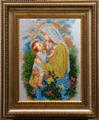 Вышитая картина Дева Мария Розария БС Солес