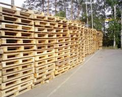 Pallets cargo according to the specification of