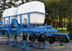 Cars for entering into soil of KU-3A liquid