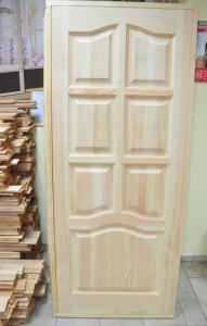 Doors are natural pine unpainted