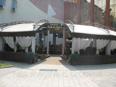 Turnkey summer cafe + an awning covering from the