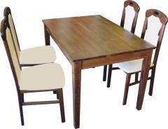 Стол деревянный раскладной КАРПАТЫ Р - натуральное дерево бук .ТМ«Тиволи»