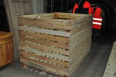 Containers wooden for storage of vegetables