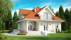 Проект каркасного дома в классическом стиле