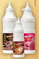 Toppings of 500 ml (620 g), PET bottle. Delivery