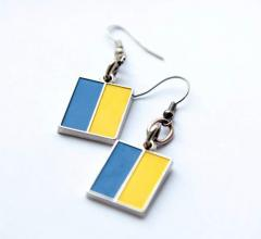 """Сережки """"Український прапор"""""""