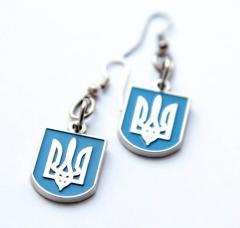 """Сережки """"Український тризуб"""""""