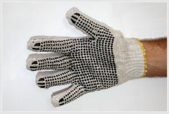 Трикотажные перчатки с ПВХ-точкой «Американка»