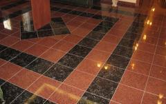 Granite tile for internal and external finishing.