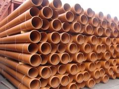 Pipes PVC for the external sewerage d