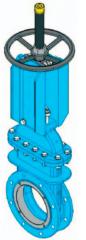 Шиберно-ножевая задвижка двунаправленная межфланцевого типа D с верхним кожухом
