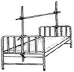 The Balkan frame - a frame longitudinal for a bed