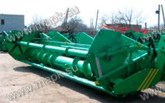 Harvesters shnekovy for direct combining