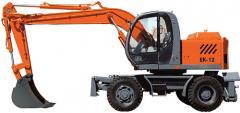 Pneumowheel EK-12 excavator