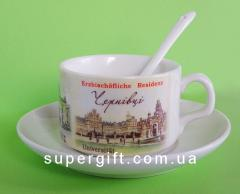 Cup souvenir coffee (complete with a saucer and a