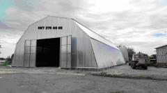 Hangars on the basis of a metalwork from