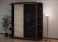 Doors to a sliding wardrobe, the console for a