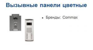 Вызывные панели видеодомофона одноабонентские,
